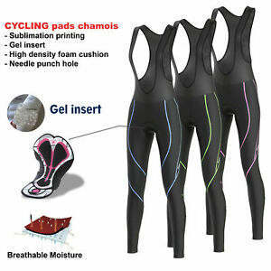 FDX Women Reflector Cycling Bib Tights Winter Thermal Padded Hi Viz Cycling Tigh