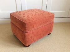 Footstool Pouffe Chenille Terracotta Wokingham
