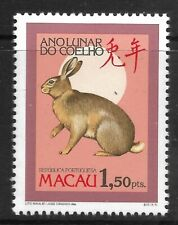 STAMPS-MACAO. 1987. Year of The Hare Commemorative. SG: 640. Mint Never Hinged