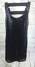Monteau Women's Embellished Sequin beaded Dress Small
