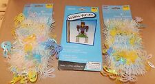 Easter Window Fun Kit Foam Shape Cross & 2 pks Of Garland 9ft Each Rabbits 111I