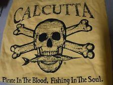 New Authentic Calcutta Original Logo Short Sleeve T-Shirt - GOLD  2XL