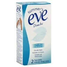 Summers Eve Douche FRESH SCENT 2 Units Ready To Use FREE SHIPPING New In Package