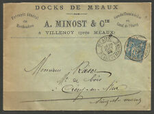 FRANCE. 1894. COVER. MEAUX POSTMARK. A MINOST & Co.