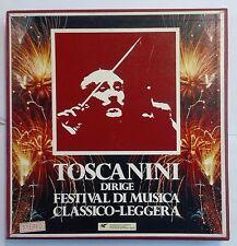 61896 Cofanetto 9 LP 33 giri - Toscanini dirige Festival Musica Classico Leggera