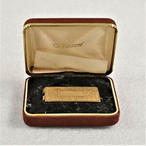 Vintage Anson Scroll Work Solid Brass Money Clip Preowned In Box