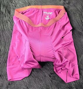 Co Op Cycles Womens Small Cycling Shorts side pockets pink purple Shipped Prompt