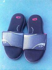 Youth CHAMPION Cushion Fit Slides/Sandals, Size 2/3, AdjustableVelcro Enclosure