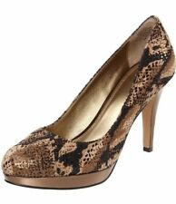 Circa Joan & David Womens Size 9.5 M Pearly Patent Platform Pump Dark Brown