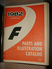1982 Chevy Camaro Parts Book Catalog Numbers Manual Illustrations And Text
