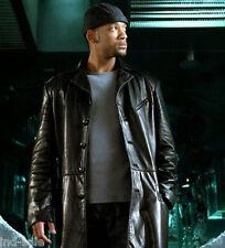 Genuine LEATHER JACKET EDH Custom Tailor Made Blazer Coat WILL SMITH I ROBOT