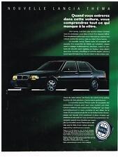 PUBLICITE ADVERTISING   1989   LANCIA   THEMA  TURBO 16