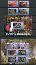 Papua Neuguinea 2008 Meerestiere Korallen Weichtiere 1300-03 Block 56-57 MNH