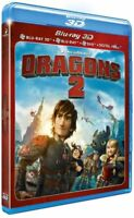 DRAGONS 2 DREAMWORKS  BLU RAY  3D ET 2D  + DVD  NEUF SOUS CELLOPHANE