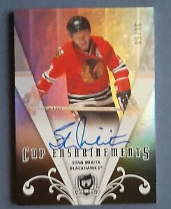 2007-08 The Cup Stan MIKITA  21/50 CUP ENSHRINEMETS  LEGENDS Auto Jersey nr.21!!