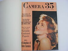 Camera 35 Magazine 6 Issue 1962 Bound Hardcover Edition Minolta Kodak Nikon Ads