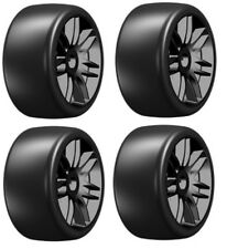 GRP GTX02-S3 GT T02 Slick S3 Soft Tires (4) 1/8 Buggy Belted SPEED RUN BLACK