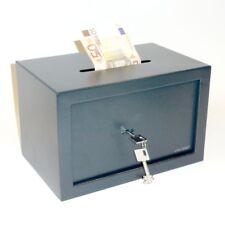 Tresor Möbeltresor Safe mit Einwurfschlitz - ca. 21l - Doppelbartschlüssel