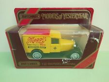 Matchbox Models of Yesteryear Y-22 1930 Model 'A' Ford Van Maggis 1:40 Boxed