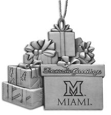 University of Miami Ohio - Pewter Gift Package Ornament
