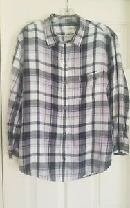 Women's Plaid Blouse Shirt Top by American Eagle Outfitters - Size Large