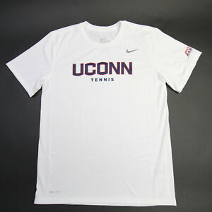 UConn Huskies Nike Dri-Fit Short Sleeve Shirt Men's White New with Tags