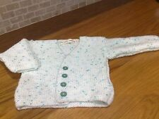 hand knitted white cardigan 6 months NEW