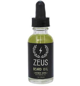 ZEUS Beard Oil, Lavender Neroli, 1 oz essential oils