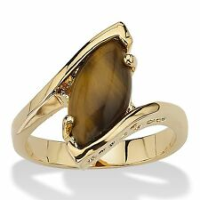 14K GOLD MARQUISE TIGERS EYE GP RING SIZE 5 6 7 8 9 10
