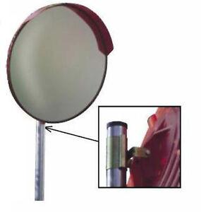 Specchio stradale parabolico diametro 60 cm   staffe attacco a palo