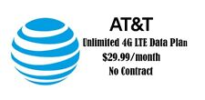 AT&T Unlimited 4G LTE Data Plan No Contract $29.99/Month Hotspot Phone