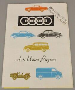 Auto Union Programm - Prospekt in Englisch / Auto Union Program english (1023)