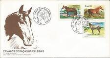 Brazil   Brasil  1985  Horse  Cavalos De Racos Brasileiras  Rio  FDI  FDC  Cover
