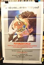Futureworld Original Movie Poster - Classic Scifi - Peter Fonda - 1976 - VF