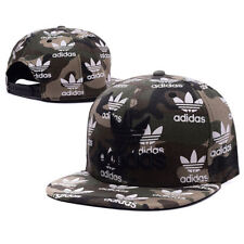 Embroidered Adidas Trefoil Snapback Flat Cap Camo: One Size Fits Most