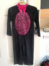 BNWT Black Pink CAT Halloween Costume Fancy Dress Dressing Up Catsuit 3 Years