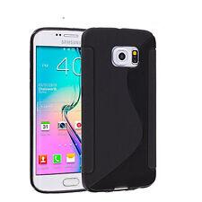 Pour Samsung Galaxy S6 Edge Plus Coque en Gel Silicone S-line S-Ligne Noir