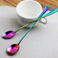 Fancy Rainbow UNICORN MERMAID Long Handle Tea Spoon STAINLESS STEEL