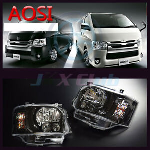 Clear Front lamps LED Headlights Assembly For TOYOTA HIACE 200 2014+