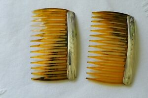 Sterling Silver Southwest Hair combs Vintage