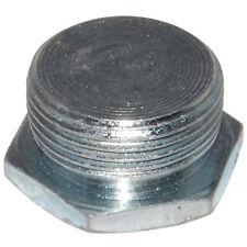 Pack of 10 - Galvanised 20mm Blank Hex Plugs for Conduit Fittings etc - BA52720G