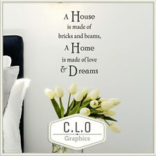 Home Quote Wall Sticker Vinyl Transfer Large Decor Bricks & Beams Decal Graphic