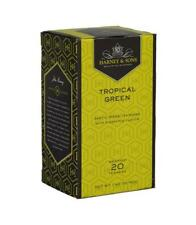 Harney & Sons TROPICAL GREEN TEA BLEND w Pineapple 20 wrapped tea bags