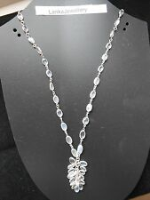 """Sterling Silver Blue Moonstone 18""""Chain Choker Necklace With Bunch (New) (N206)"""