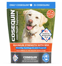 Cosequin Maximum Strength Joint SOFT CHEWS w Omega 3 +MSM 60 Count MOIST & TASTY