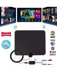 35 Mile HDTV Indoor Antenna Aerial HD Digital TV Signal Amplified Booster &Cable