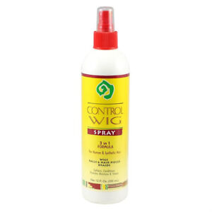 Control Wig Spray 3-in-1 Formula 12oz For Natural & Synthetic Hair