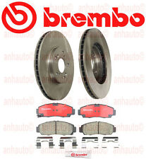 Set of 2 Brembo Front Brake Rotors & Pads Kit Acura CL TL TSX Honda Acoord V6