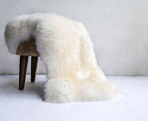 Genuine Sheepskin Natural White, Approx. Size 2.5'x3.5'
