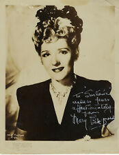LEGENDARY CANADIAN ICON ,SILENT ACTRESS MARY PICKFORD ,AUTOGRAPHED VINTAGE PHOTO